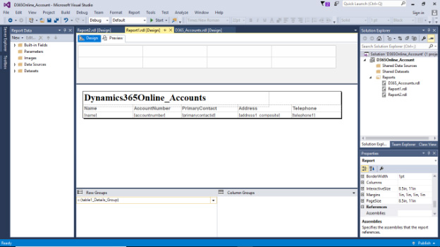 Creating SSRS Report for Dynamics 365 Online - Mastermind